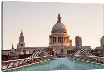 St. Paul's Cathedral I, Millennium Bridge, London, England Canvas Art Print