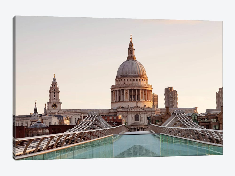 St. Paul's Cathedral I, Millennium Bridge, London, England by Panoramic Images 1-piece Art Print