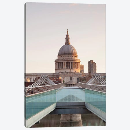 St. Paul's Cathedral II, Millennium Bridge, London, England Canvas Print #PIM13997} by Panoramic Images Art Print