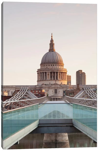 St. Paul's Cathedral II, Millennium Bridge, London, England Canvas Art Print