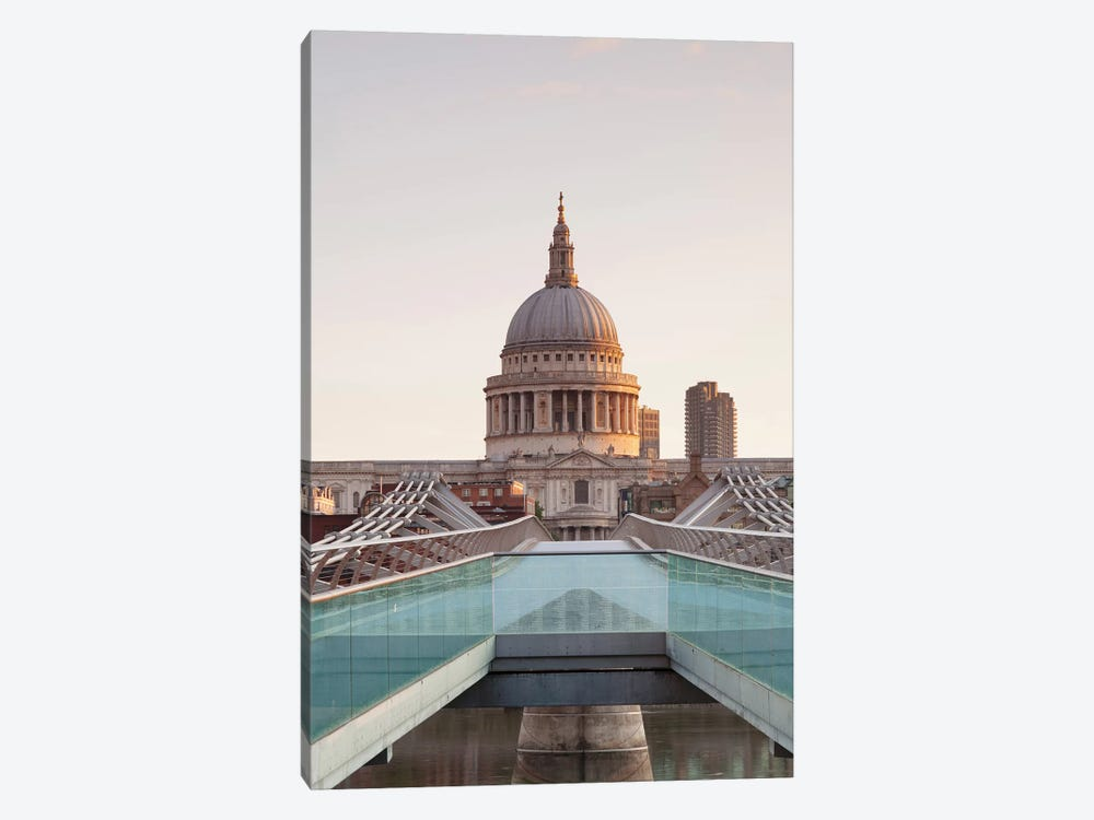 St. Paul's Cathedral II, Millennium Bridge, London, England 1-piece Canvas Wall Art