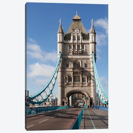 Tower Bridge II, London, England, United Kingdom Canvas Print #PIM13998} by Panoramic Images Canvas Artwork