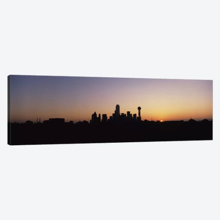 Sunrise Skyline Dallas TX USA Canvas Print #PIM1399} by Panoramic Images Canvas Art Print