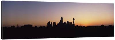 Sunrise Skyline Dallas TX USA Canvas Print #PIM1399