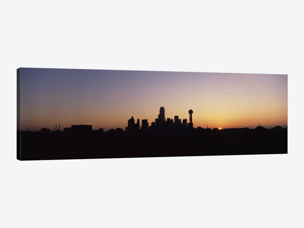 Sunrise Skyline Dallas TX USA 1-piece Canvas Wall Art