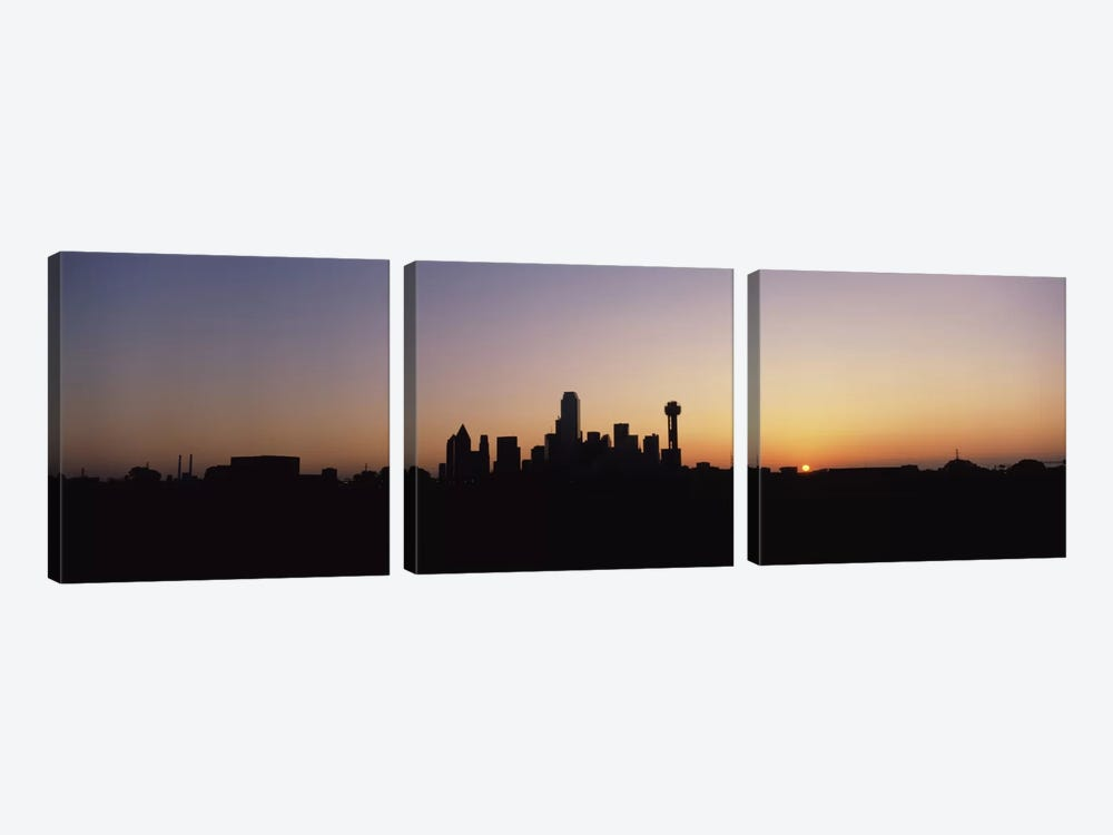 Sunrise Skyline Dallas TX USA by Panoramic Images 3-piece Canvas Art