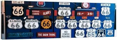 Route 66 Sign Collection Canvas Print #PIM139
