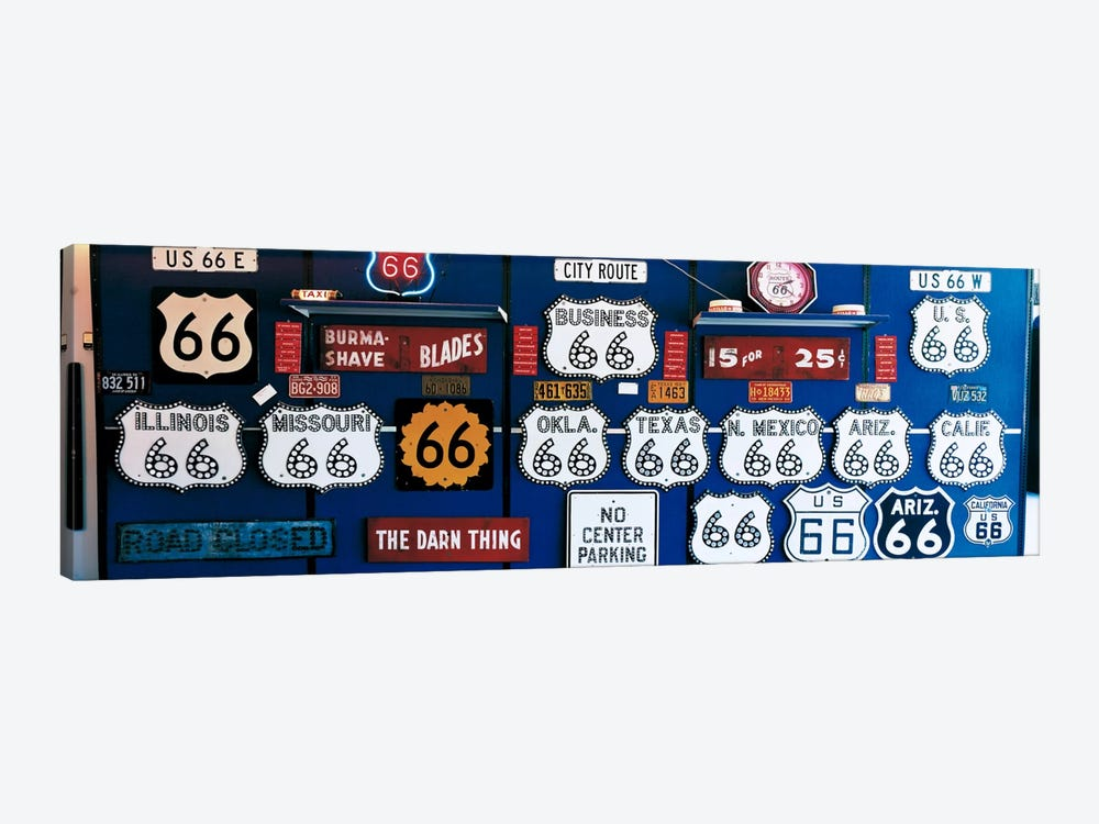 Route 66 Sign Collection by Panoramic Images 1-piece Canvas Print