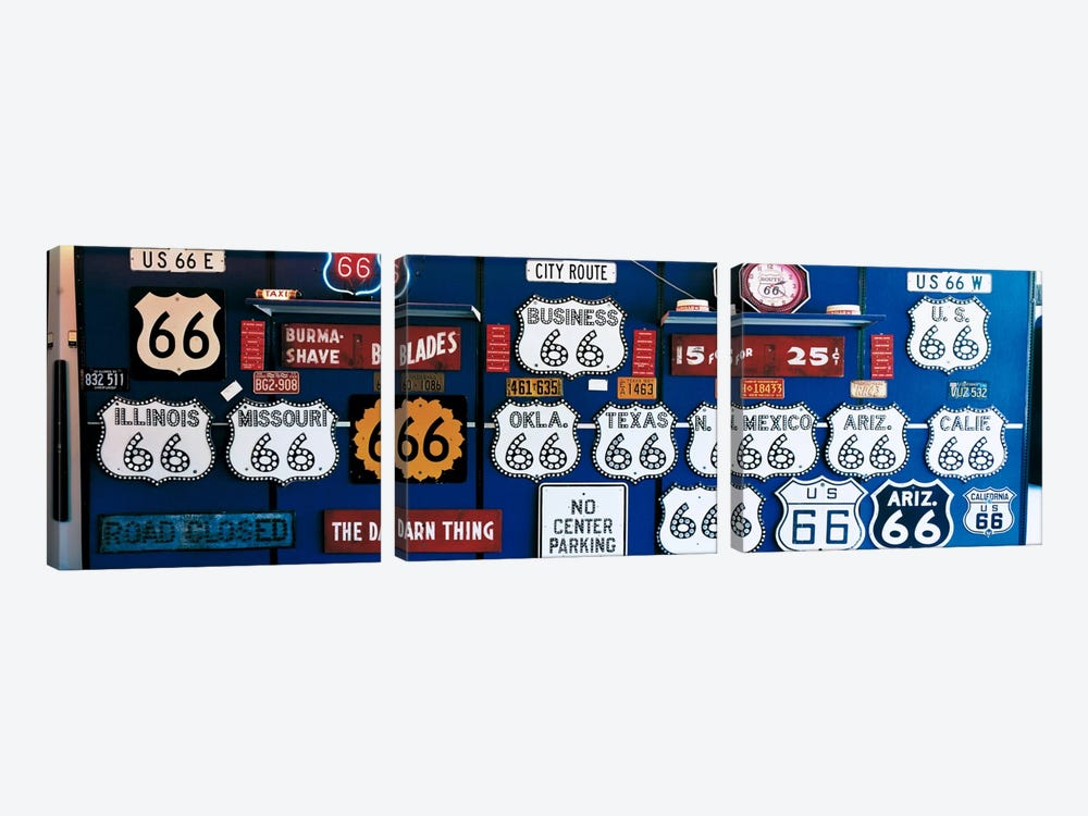 Route 66 Sign Collection by Panoramic Images 3-piece Art Print