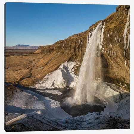 Seljalandsfoss (Seljaland Waterfall), Sudurland, Iceland Canvas Print #PIM14001} by Panoramic Images Art Print