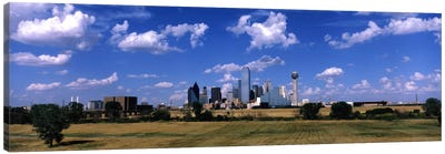 Skyline Dallas TX USA Canvas Art Print