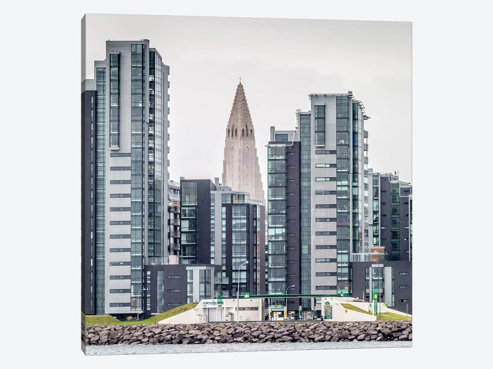 Skyline I, Reykjavik, Iceland 1-piece Canvas Wall Art
