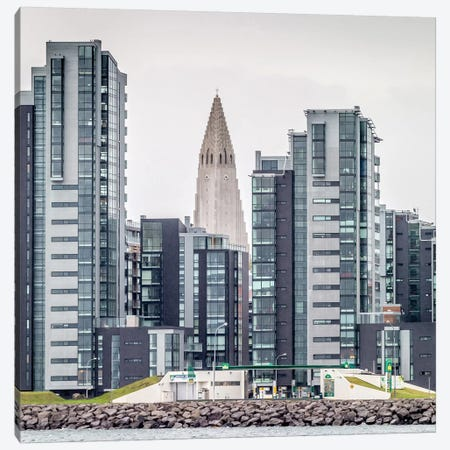 Skyline I, Reykjavik, Iceland Canvas Print #PIM14013} by Panoramic Images Canvas Art