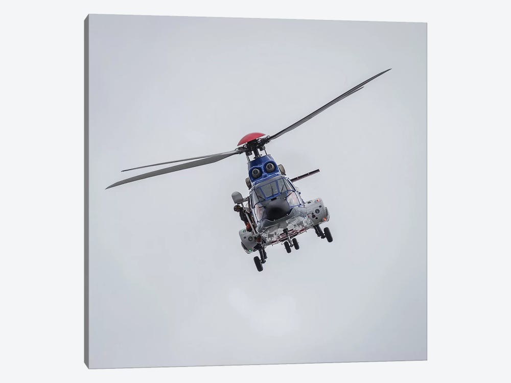 Icelandic Coast Guard TF-LIF Aerospatiale AS-332L1 Super Puma Helicopter, Reykjavik, Iceland by Panoramic Images 1-piece Canvas Art