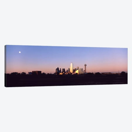 Sunset Skyline Dallas TX USA Canvas Print #PIM1401} by Panoramic Images Canvas Art Print