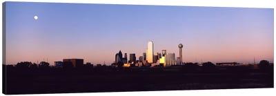 Sunset Skyline Dallas TX USA Canvas Print #PIM1401
