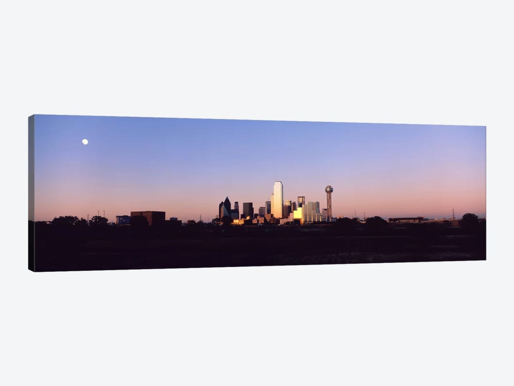 Sunset Skyline Dallas TX USA by Panoramic Images 1-piece Canvas Wall Art