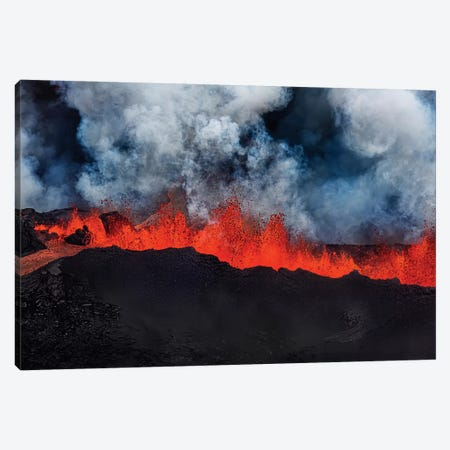 Eruption Fissure Splatter Fountains I, Holuhraun Lava Field, Sudur-Bingeyjarsysla, Nordurland Eystra, Iceland Canvas Print #PIM14021} by Panoramic Images Canvas Art Print