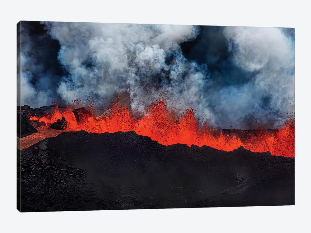 Eruption Fissure Splatter Fountains I, Holuhraun Lava Field, Sudur-Bingeyjarsysla, Nordurland Eystra, Iceland by Panoramic Images 1-piece Canvas Print