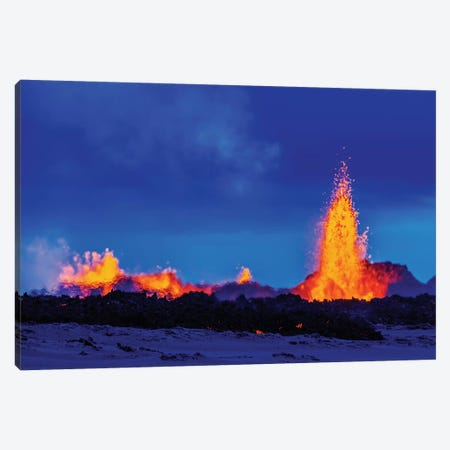 Eruption Fissure Splatter Fountains II, Holuhraun Lava Field, Sudur-Bingeyjarsysla, Nordurland Eystra, Iceland Canvas Print #PIM14023} by Panoramic Images Canvas Print