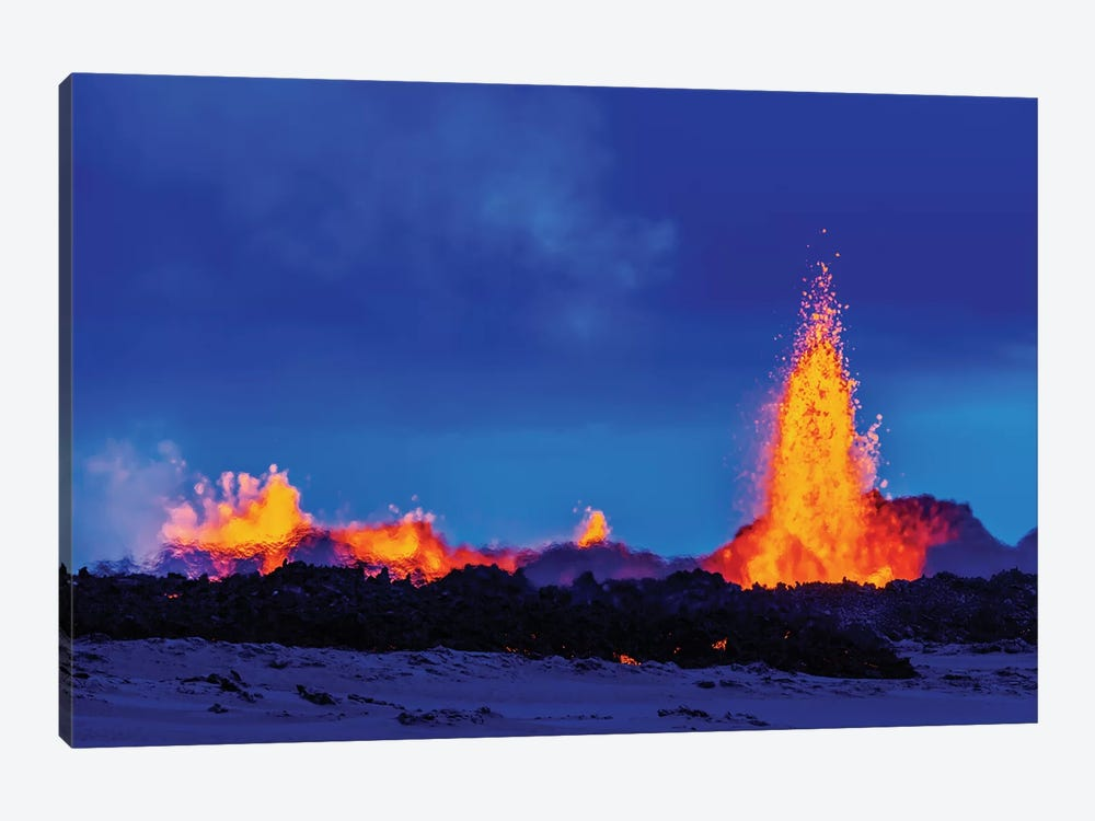Eruption Fissure Splatter Fountains II, Holuhraun Lava Field, Sudur-Bingeyjarsysla, Nordurland Eystra, Iceland by Panoramic Images 1-piece Art Print