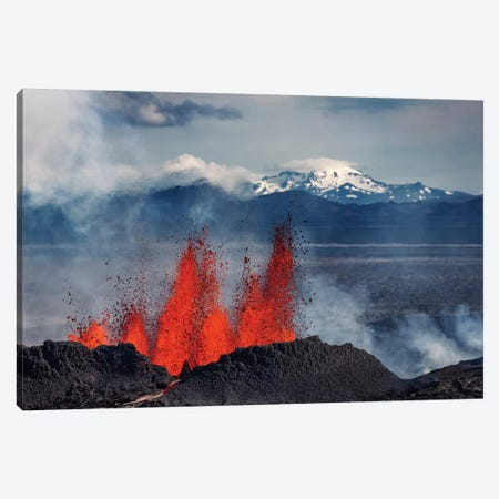 Eruption Fissure Splatter Fountains III, Holuhraun Lava Field, Sudur-Bingeyjarsysla, Nordurland Eystra, Iceland Canvas Print #PIM14024} by Panoramic Images Canvas Art