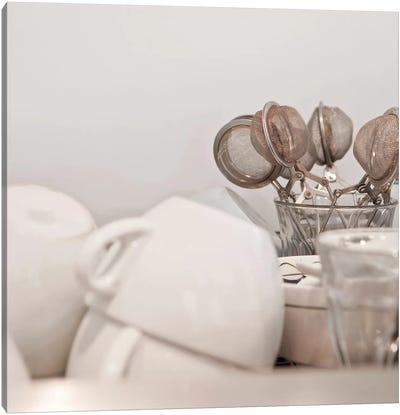Tea Cups and Strainers Canvas Art Print