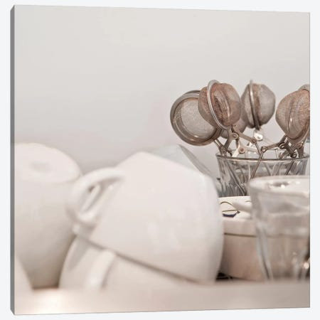 Tea Cups and Strainers Canvas Print #PIM14026} by Panoramic Images Canvas Wall Art