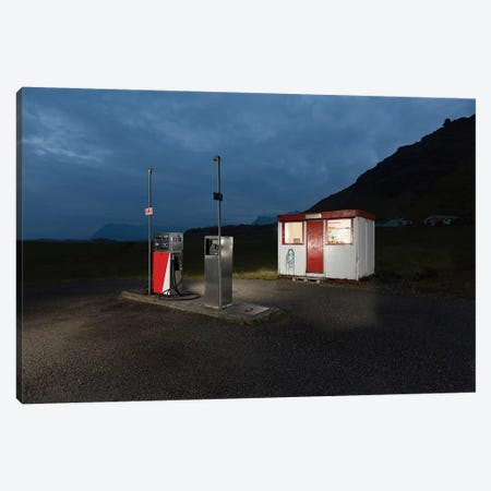 Countryside Gas Station, South Coast, Iceland Canvas Print #PIM14030} by Panoramic Images Canvas Artwork
