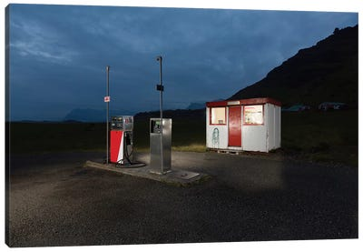 Countryside Gas Station, South Coast, Iceland Canvas Art Print