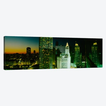 Night Chicago IL USA Canvas Print #PIM1404} by Panoramic Images Canvas Art