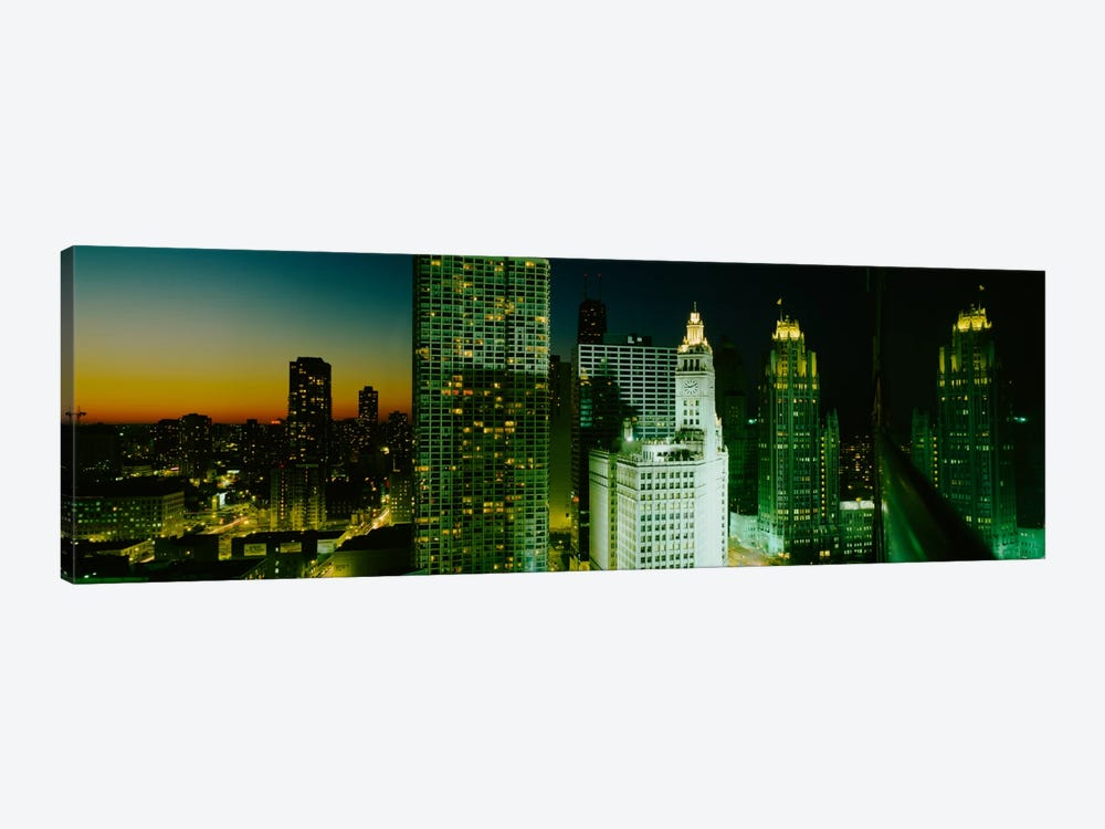 Night Chicago IL USA by Panoramic Images 1-piece Art Print