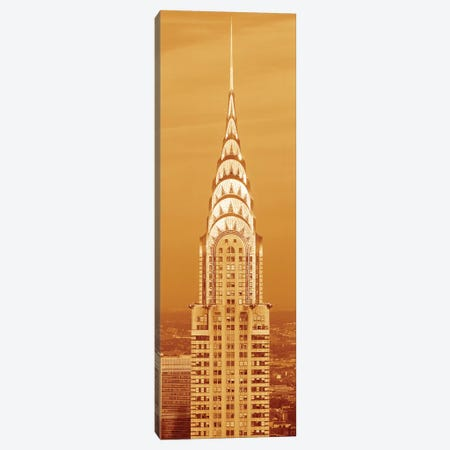 Chrysler Building At Sunset In Sepia, New York City, New York, USA Canvas Print #PIM14058} by Panoramic Images Canvas Wall Art