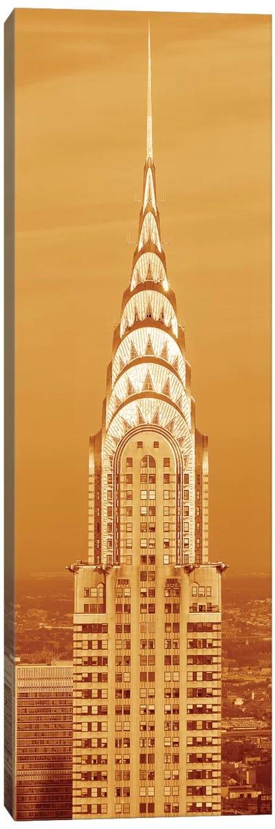 Chrysler Building At Sunset In Sepia, New York City, New York, USA Canvas Art Print