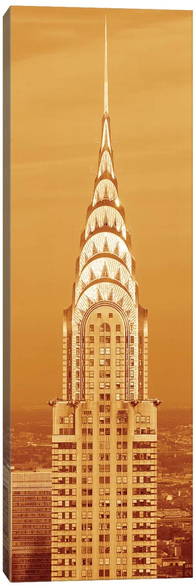 Chrysler Building At Sunset In Sepia, New York City, New York, USA Canvas Art Print