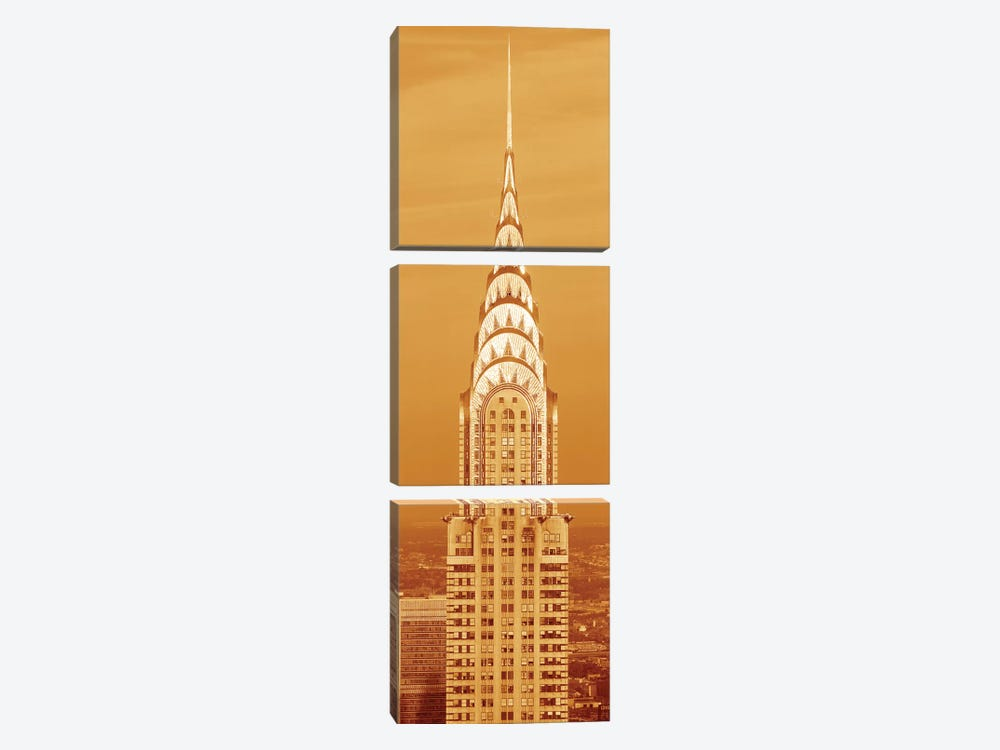 Chrysler Building At Sunset In Sepia, New York City, New York, USA by Panoramic Images 3-piece Canvas Print