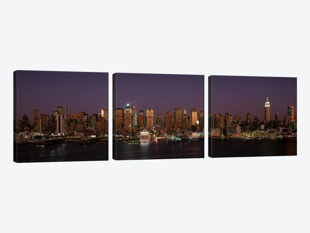 Skyline, Midtown, Manhattan, New York City, New York, USA by Panoramic Images 3-piece Canvas Wall Art
