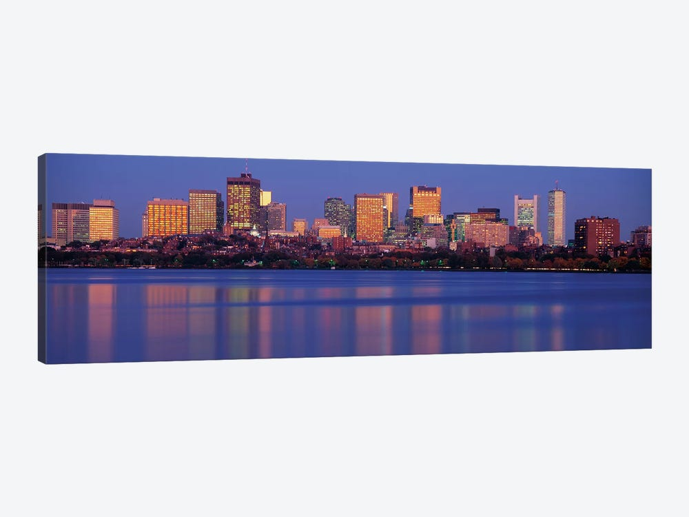 Downtown Skyline, Boston, Suffolk County, Massachusetts, USA by Panoramic Images 1-piece Canvas Wall Art