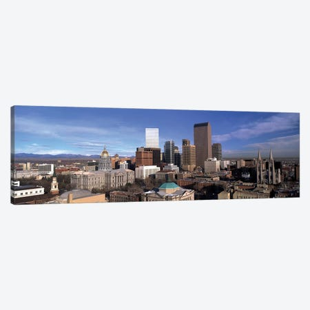 Downtown Skyline, Denver, Denver County, Colorado, USA Canvas Print #PIM14061} by Panoramic Images Art Print