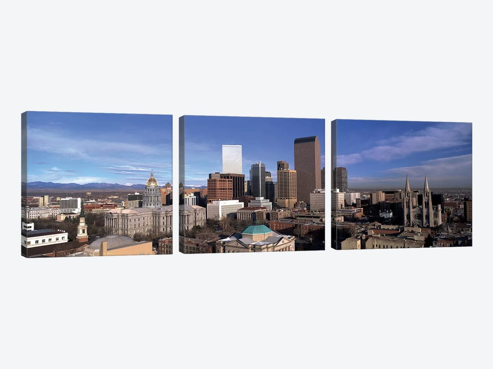 Downtown Skyline, Denver, Denver County, Colorado, USA by Panoramic Images 3-piece Canvas Print