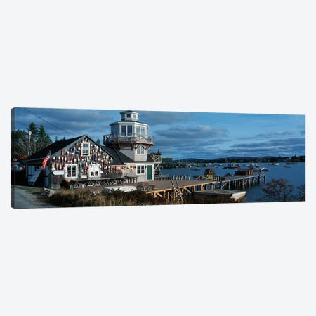 Harding Family Wharf, Bass Harbor, Hancock County, Maine, USA Canvas Print #PIM14062} by Panoramic Images Canvas Art Print
