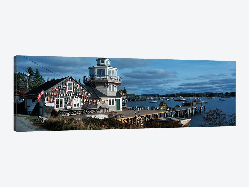 Harding Family Wharf, Bass Harbor, Hancock County, Maine, USA by Panoramic Images 1-piece Canvas Art