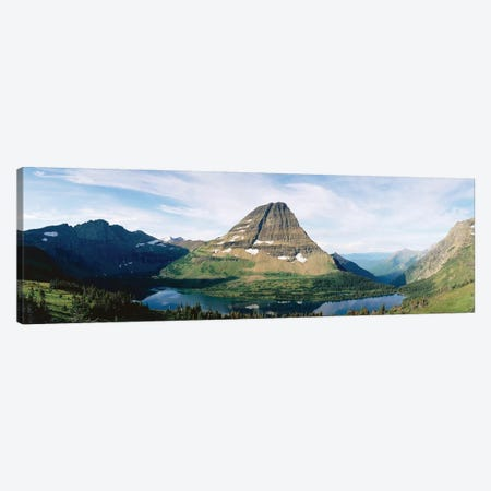 Bearhat Mountain and Hidden Lake, Lewis Range, Rocky Mountains, Glacier National Park, Flathead County, Montana, USA Canvas Print #PIM14065} by Panoramic Images Canvas Wall Art