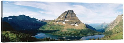Bearhat Mountain and Hidden Lake, Lewis Range, Rocky Mountains, Glacier National Park, Flathead County, Montana, USA Canvas Art Print