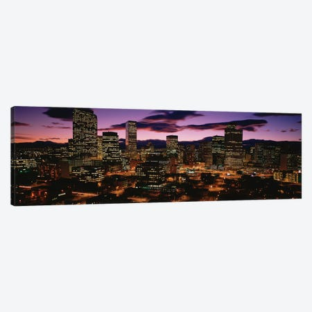 Downtown Skyline at Dusk, Denver, Denver County, Colorado, USA Canvas Print #PIM14066} by Panoramic Images Canvas Wall Art