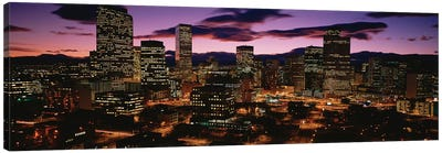 Downtown Skyline at Dusk, Denver, Denver County, Colorado, USA Canvas Art Print