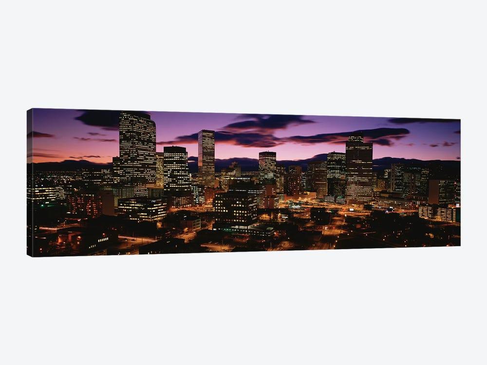 Downtown Skyline At Dusk Denver Denver County Colorado Usa Icanvas