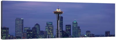 Downtown Skyline at Dusk, Seattle, King County, Washington, USA Canvas Art Print