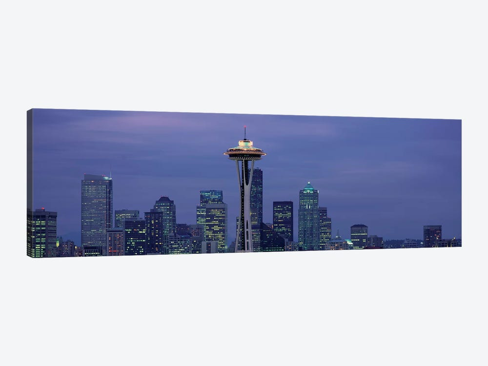 Downtown Skyline at Dusk, Seattle, King County, Washington, USA by Panoramic Images 1-piece Canvas Art Print