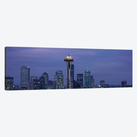 Downtown Skyline at Dusk, Seattle, King County, Washington, USA Canvas Print #PIM14067} by Panoramic Images Canvas Wall Art
